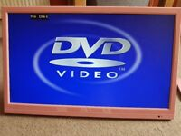 Pink TV with built in DVD player