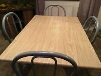 Beech Table & Four Chairs