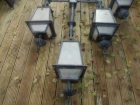 X2 Repo edwardian/victorian street lamps 10 feet tall, (iron not plastic)