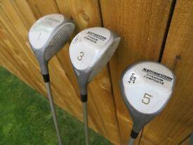 Full set of Northwestern Golf Clubs