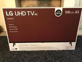 "LG 43"" Ultra HD 4K HDR Smart LED TV for Sale - New and sealed"
