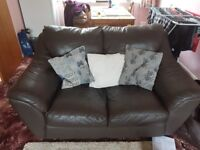 2 leather sofas reasonable condition 75 all in collection only