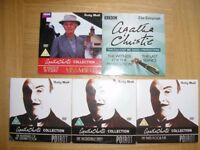 A selection of DVDs, and one CD: A.Christie & POIROT.