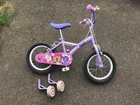 "Apollo Petal Girls Bike - 14"" with stabilisers"