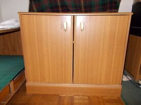 Small Wooden Cupboard / Unit / Chest of Drawers with Shelf and Door