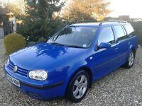 2001 Volkswagen Golf 1.6 Estate. Only 65k mi, FSH, Full MOT, Single family owner. Cambelt+ pump done