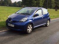 Toyota aygo blue -2008-5 door-1l vvt-i