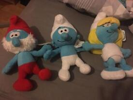 Smurfs - papa, smurfette and normal