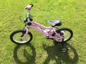 "Ridgeback Honey 14"" bike with stabilisers"