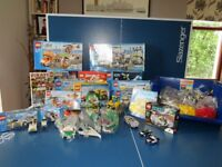 17 Lego Sets and a bag of red, blue, green, grey lego etc. Amazing Value