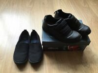 ** Boys Clarks School Shoes Size 2 And PE Pumps Size 2 **