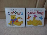 Two Scruffy Teddy Bear Board Books
