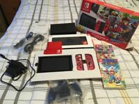 Nintendo Switch 32gb plus 3 games and case.
