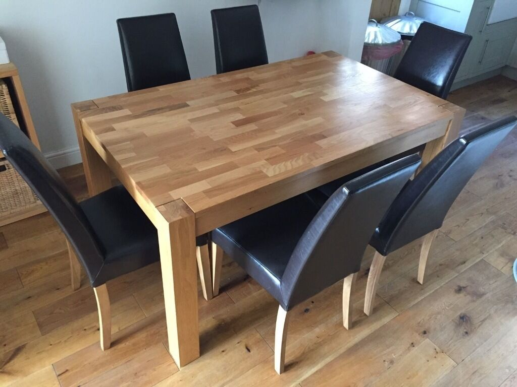 REDUCED FOR QUICK SALE Solid Oak Debenhams Dining Table With