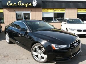 2014 Audi A5 2.0T AWD - S-Line Wheels, H. Leather, Bluetooth