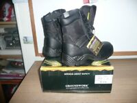 Groundwork GR38 Black Steel Toe Capped Safety Boots SIZE UK 6 EU 40 BNIB