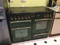 Green Leisure Rangemaster 110 Dual Fuel Range Cooker