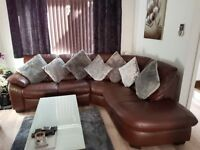 Dfs brown leather corner sofa