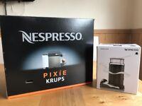 Nespresso Pixie Krups Machine with milk frother