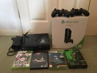 Xbox 360 E console 250 GB with controllers and accessories