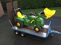 Low loader / flat bed trailer for Berg Go-kart