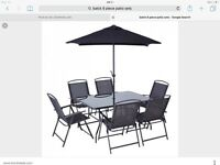 New black 8 piece patio set bargain £140