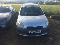 2002 Toyota Yaris 1L 48'000miles 1 years mot