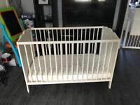 IKEA cot with obaby mattress