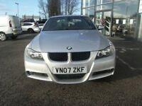 DIESEL AUTO !!! 2007 07 BMW 3 SERIES 3.0 325D M SPORT 4D AUTO 195 BHP *** GUARANTEED FINANCE