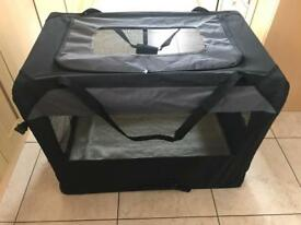 Dog Cage Carrier, Portable Kennel Bed, Used For 1 Weeks Holiday
