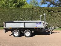 Ifor Williams 8x5 dropside trailer with winch