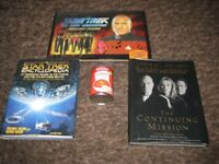 Nice Collectible Star Trek Jigsaw Book Plus Two other Comprehensive Star Trek Reference Books