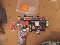 JOBLOT OF USED CARP FISHING BAIT POP UP BOILIES FOX SPOMB GROUND BAIT