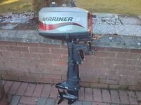 Mariner 5hp outboard in excellent condition