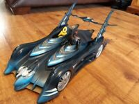 Mattel 2003 Batman Batmobile 2-1 Vehicle & Detachable Robin Motorbike 2003 B4944 Rare Collectable