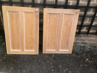 Kitchen Cabinet Doors/Drawer fronts Solid Limed Oak (25 Pieces), and top trim
