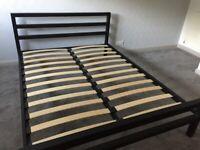 As new black metal 5ft bed