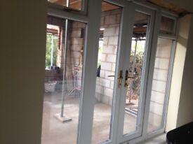 upvc double glazed french doors with side panels