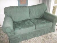 Sofa, green, Laura Ashley, excellent condition, delivery possible in/near Torquay