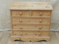 Welsh Pine strong chest of 5 Drawers Heavy duty (Delivery)