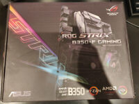 Motherboard Asus ROG Strix B350-F Gaming with latest BIOS update(ready for 3000 series) and box