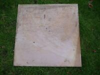 Polished Stone slabs 39 x 29cm square - bought but not needed - superb condition