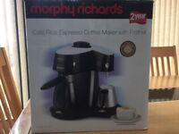 Morph Richards Espresso coffee maker with frother