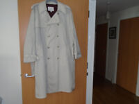 GENTS CLOTHING from L to 3XL including a RAINCOAT, a BRAND NEW SUIT, 2 JACKETS, a LEATHER WAISTCOAT