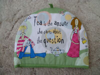 Born To Shop - Tea Cosy - Tea Is The Answer Who Cares About The Question