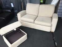 Large 2 seater sofa and ottoman footstool (FREE DELIVERY)
