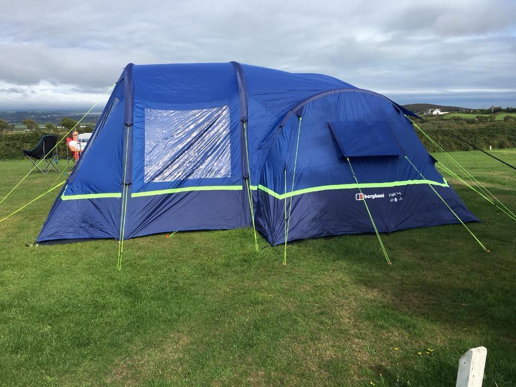 f009b77f5 Berghaus Air 4 Tent + Air Porch + Footprint + Two Outwell Carpets