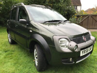 Fiat Panda 1.3 MultiJet Cross 4x4. Metallic green with black mouldings, 91254 miles, full year MOT.