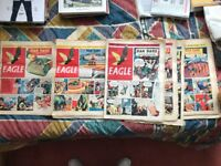 The Eagle and Dan Dare rare comic newspapers