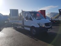 2014-64 plate sprinter 513 twin rear wheels 13ft alloy dropside tailift ex o...